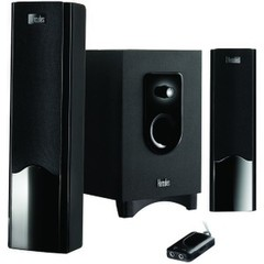 2.1 Speaker System with Subwoofer, Black Gloss - Part Number: 60PS-01610