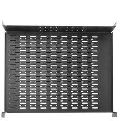 Rackmount Vented 4 Point Adjustable Shelf, 19 inch Rack 1U - Part Number: 61S2-23101