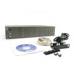 16 Slot Managed Converter Chassis with Redundant Power Supply - Part Number: 61X6-40016