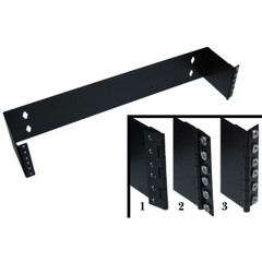 Rackmount Hinged Wall Mounting Bracket, 2U, Dimensions: 3.5 (H) x 19 (W) x 6 (D) inches - Part Number: 68BP-1002U