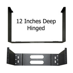 Rackmount Hinged Wall Mounting Bracket, 3U, Dimensions: 5.25 (H) x 19 (W) x 12 (D) inches - Part Number: 68BP-4003U