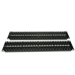 Rackmount 96 Port Cat5e Patch Panel, Horizontal, 110 Type, 568A & 568B Compatible, 4U - Part Number: 68PP-03096