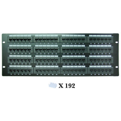 Rackmount 96 Port Cat6 Patch Panel, Horizontal, 110 Type, 568A & 568B Compatible, 4U - Part Number: 69BK-06096
