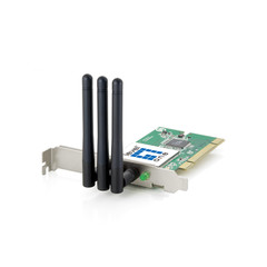 300 Mbps Wireless B/G/N PCI Expansion Card, 3 Antenna - Part Number: 70X5-01202