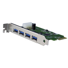 USB 3.0 Super Speed PCI Express Card, 4 Port - Part Number: 71U3-13040
