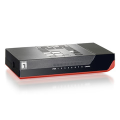 8 Port 10/100 Fast Ethernet Switch, Black with Red Trim - Part Number: 71X5-00208