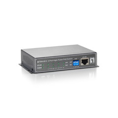 4 Port 10/100 Fast Ethernet High Power PoE Switch with 1 Uplink Port - Part Number: 71X5-04104