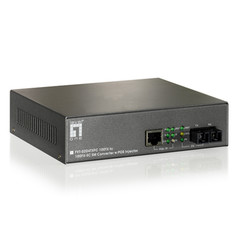 10/100BASE-TX to 100BASE-FX Single-Mode SC Fiber Converter with PoE Injector - Part Number: 72X6-04108