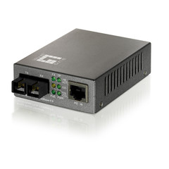 10/100BASE-TX to 100BASE-FX Single-Mode SC Fiber Converter with PoE - Part Number: 72X6-04109