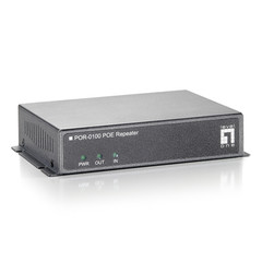 1 Port PoE Repeater, Extends Data (10/100 Fast Ethernet) and Power 100 meters - Part Number: 74X5-03116