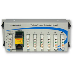 Telephone Hub Media Cabinet Module, Centralize and Simplify Telephone Distribution - Part Number: 7550-00020