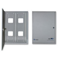 Media Cabinet, Surface Mount Enclosure, Dimensions: 14 9/16 (W) x 19 (H) x 4 5/16 (D) inches - Part Number: 7550-00105
