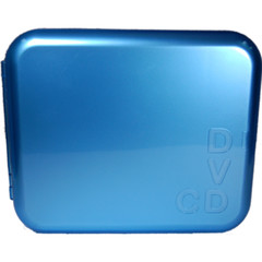 CD Wallet, Blue, Holds 24 CDs - Part Number: 80CW-24FBL