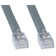 Telephone Cord (Voice), RJ45, Silver Satin, Reverse, 7 foot - Part Number: 8103-88207