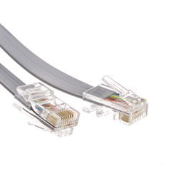 Telephone Cord (Data), RJ45 8P / 8C, Silver Satin, Straight, 25 foot - Part Number: 8103-88125