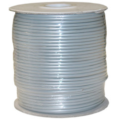 Bulk Phone Cord, Silver Satin, 28/4 (28 AWG 4 Conductor), Spool, 1000 foot - Part Number: 8604-1000F-28