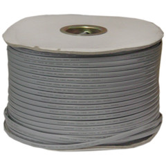 Bulk Phone Cord, Silver Satin, 26/6 (26 AWG 6 Conductor), Spool, 1000 foot - Part Number: 8606-4500S