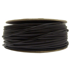 Bulk Flat Phone Cord, Black, 26/4 (26 AWG 4 Conductor), Spool, 1000 foot - Part Number: 8604-1000FBK
