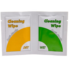 Anti Static Screen Cleaning Wipes, Dry and Wet Sheets (16 Sets) - Part Number: 9001-00950