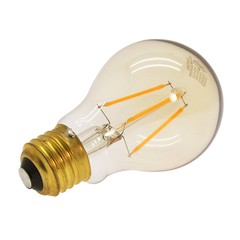 4 Watt (25W Equiv.) Warm (2200k) Dimmable LED Filament Light Bulb, E26 - Part Number: 90L2-20104