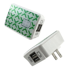 2 Port USB Wall Charger, White, 2 Amps for Powering Smart Phones, Tablets, and Other USB Powered devices - Part Number: 90W1-30100WH
