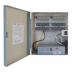 18 Port Power Distribution Box, 9 Ports @ 12 Volts DC / 5 Amps and 9 Ports @ 24 Volts AC / 4 Amps - Part Number: 90W2-18312