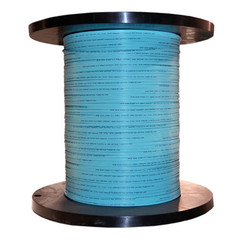 2 Fiber Indoor Distribution Fiber Optic Cable, Multimode, 50/125, OM3, 10 Gbit, Aqua, Riser Rated, Spool, 1000 foot - Part Number: 10F2-302NH