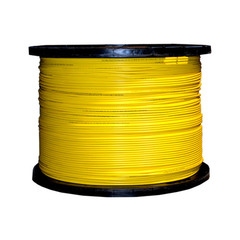 12 Fiber Indoor Distribution Fiber Optic Cable, Singlemode, 9/125, Yellow, Riser Rated, Spool, 1000 foot - Part Number: 10F2-012NH