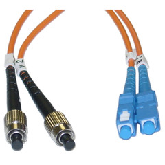 Fiber Optic Cable, FC / SC, Multimode, Duplex, 62.5/125, 4 meter (13 foot) - Part Number: FCSC-11104