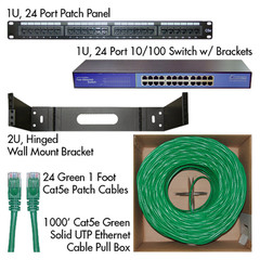 Cat5e Advanced Network Kit (Green) - Part Number: KIT-C5E003GR