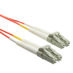 Fiber Optic Cable, LC / LC, Multimode, Duplex, 50/125, 1 meter (3.3 foot) - Part Number: LCLC-11001