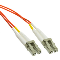 Plenum Fiber Optic Cable, LC / LC, Multimode, Duplex, 62.5/125, 2 meter (6.6 foot) - Part Number: LCLC-11102-PL
