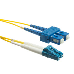 Fiber Optic Cable, LC / SC, Singlemode, Duplex, 9/125, 3 meter (10 foot) - Part Number: LCSC-01203