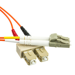Fiber Optic Cable, LC / SC, Multimode, Duplex, 62.5/125, 3 meter (10 foot) - Part Number: LCSC-11103