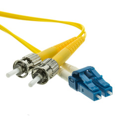 Fiber Optic Cable, LC / ST, Singlemode, Duplex, 9/125, 1 meter (3.3 foot) - Part Number: LCST-01201