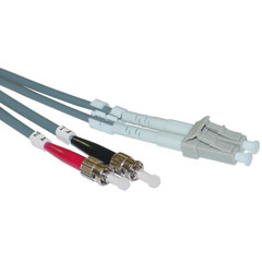 Fiber Optic Cable, LC / ST, Multimode, Duplex, 50/125, 10 meter (33 foot) - Part Number: LCST-11010
