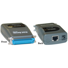 Network Printer Server, Parallel Port, Centronics 36 (CN36) Male to RJ45 (10/100 Fast Ethernet) Female - Part Number: PS-1203