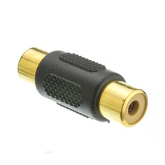 RCA Coupler, RCA Female, Gold - Part Number: RCA-FFG