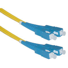 Fiber Optic Cable, SC / SC, Singlemode, Duplex, 9/125, 10 meter (33 foot) - Part Number: SCSC-01210