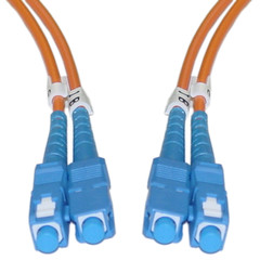 Fiber Optic Cable, SC / SC, Multimode, Duplex, 62.5/125, 1 meter (3.3 foot) - Part Number: SCSC-11101