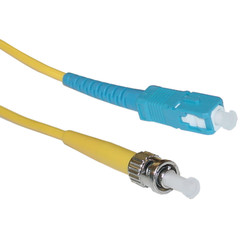 Fiber Optic Cable, SC / ST, Single Mode, Simplex, 9/125, 3 meter (10 foot) - Part Number: SCST-00203