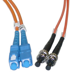 Fiber Optic Cable, SC / ST, Multimode, Duplex, 62.5/125, 5 meter (16.5 foot) - Part Number: SCST-11105