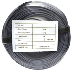 Security/Alarm Wire, Gray, 22/4 (22AWG 4 Conductor), Stranded, CMR / Inwall rated, Coil Pack, 500 foot - Part Number: 10K4-0421BF