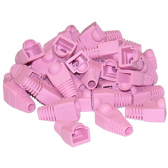 RJ45 Strain Relief Boots, Pink, 50 Pieces Per Bag - Part Number: SR-8P8C-PI