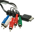 Playstation 2 Component Video and RCA Stereo Audio HD Cable, 3 Component RCA Video Male and 2 Audio RCA Male, 5 foot thumbnail