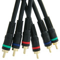 High Quality Component Video Cable, 3 RCA Male (RGB), Gold-plated Connectors, 100 Foot thumbnail