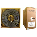 Bulk RG59/U Coaxial Cable, Black, 20 AWG, Solid Core, Copper, Pullbox, 1000 foot thumbnail