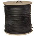 Direct Burial/Outdoor Rated Bulk RG6U Coaxial Cable, Solid Bare Copper, 95% Bare Copper Braid, Black, 18 AWG, Spool, 1000 foot thumbnail