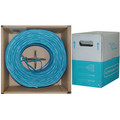 Bulk Shielded Cat6 Blue Ethernet Cable, Stranded, Pullbox, 1000 foot thumbnail