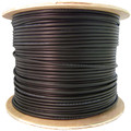 Direct Burial/Outdoor rated Cat5e Black Ethernet Cable, Solid, CMX, Waterproof Tape, 24 AWG, Spool, 1000 foot thumbnail